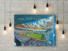 baseball ground  canvas a2 size